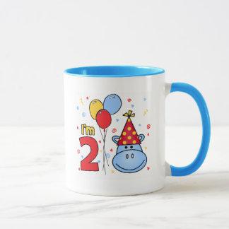 Hippo Face 2nd Birthday Mug