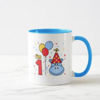 Hippo Face First Birthday Mug