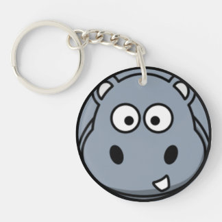 Hippo Face Key Ring