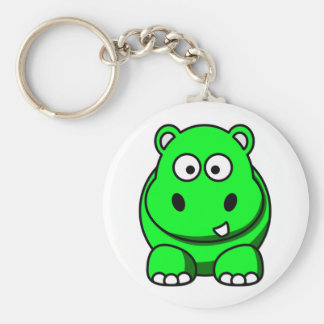 Hippo Green Key Ring