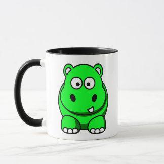 Hippo Green Mug