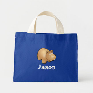 Hippo Mini Tote Bag