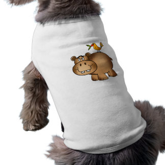 Hippo po and Birdie Sleeveless Dog Shirt