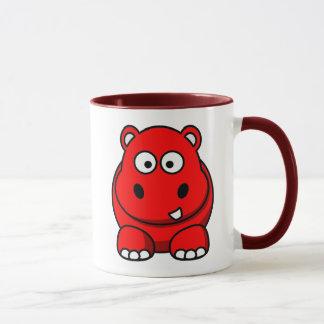 Hippo Red Mug