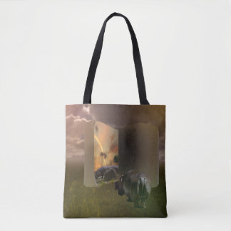 Hippo_The_Love_Story,_Full_Print_Shopping_Bag. Tote Bag