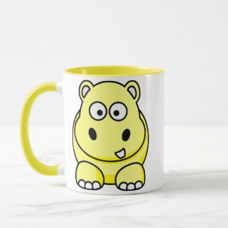 Hippo Yellow Mug