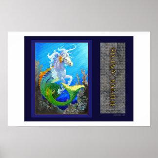 Hippocampus Sea Horse Dragon Print