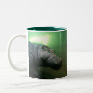 Hippopotamus Abstract Two-Tone Coffee Mug