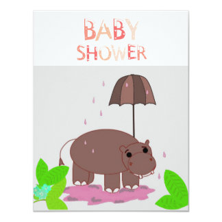 Hippopotamus Baby Shower Invitation