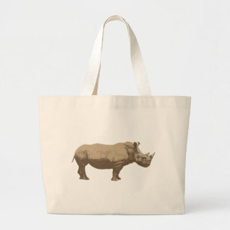 Hippopotamus Cut Out On Blue Background Large Tote Bag