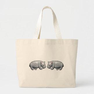 Hippopotamus Large Tote Bag