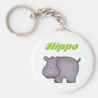 Hippopotamus Tshirts and Gifts Key Ring