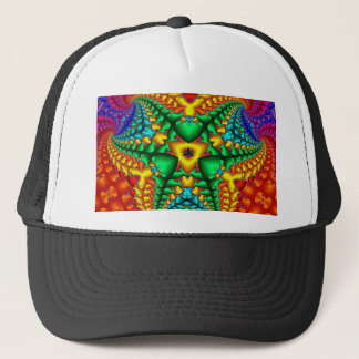 Hippy Rainbow Psychedelic Fractal Trucker Hat