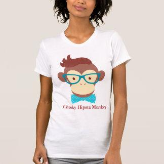 hipsta monkey cheeky funny hipster animal tshirt