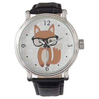 Hipster Baby Fox w/Glasses Watch