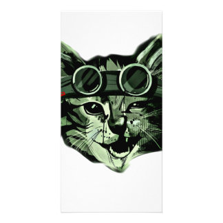 Hipster Cat Picture Card