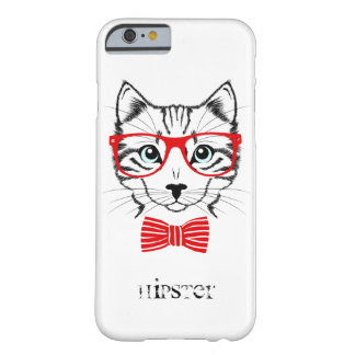 Hipster Cat with Glasses & Bowtie Barely There iPhone 6 Case