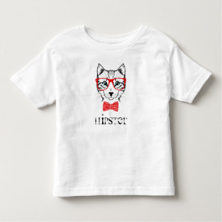 Hipster Cat with Glasses & Bowtie Toddler T-Shirt
