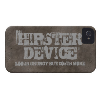 Hipster Device, Looks Grungy But Costs More iPhone iPhone 4 Case-Mate Case