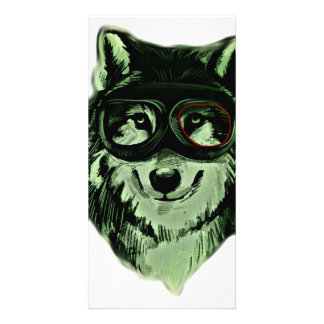 Hipster Dog Style Photo Greeting Card