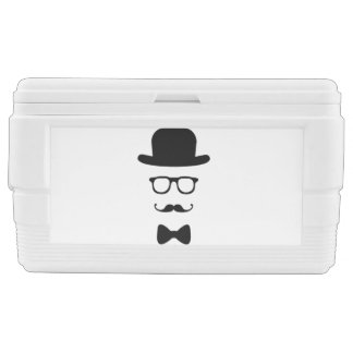 Hipster Face 48 Quart Duo Deco Chest Cooler