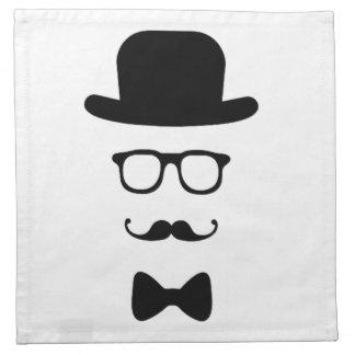 Hipster Face Cloth Napkin