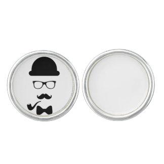 Hipster Face Cufflinks