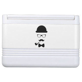 Hipster Face Igloo Can Cooler Chilly Bin