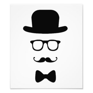 Hipster Face Photo Print