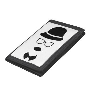 Hipster Face TriFold Nylon Wallet