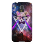 Hipster galaxy cat galaxy s5 case