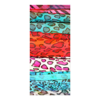 Hipster girly  abstract animal print pattern personalized rack card