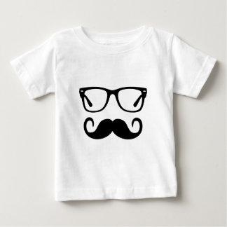 Hipster Glasses & Handlebar Mustache Baby T-Shirt