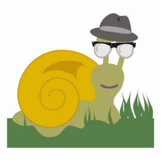 Hipster Snail Sculpture Standing Photo Sculpture