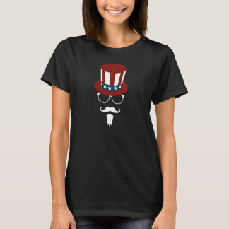 Hipster Uncle Sam T-Shirt