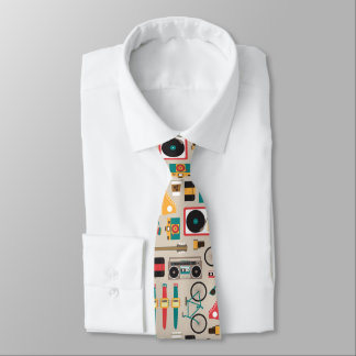 Hipsterrific Hipster Things Pattern (Cinereous) Tie