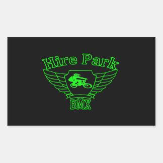Hire Park BMX Rectangle Stickers