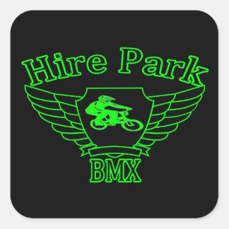 Hire Park BMX Square Stickers