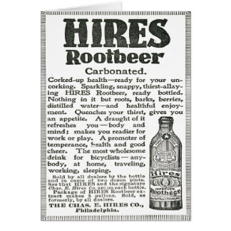 Hire Root Beer Black and White Advertisement Card