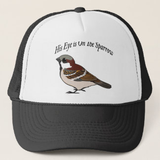 His eye is on the Sparrow Trucker Hat