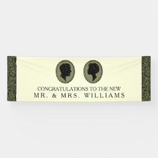 His & Hers Art Deco Silhouette Wedding Collection Banner