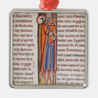 Historiated initial 'I' depicting Elimelech Christmas Ornament