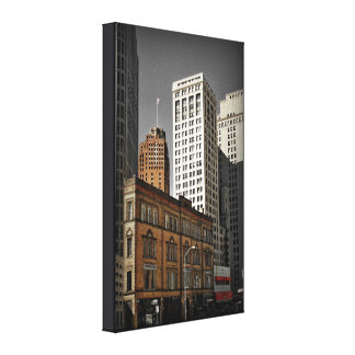 Historic Cadillac Square (Detroit) on Canvas