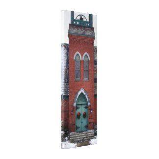 Historic Church Door Architecture Canvas
