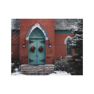 Historic Church Door Architecture Photo Gallery Wrapped Canvas