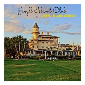 Historic Jekyll Island Club in Georgia Lowcountry Poster