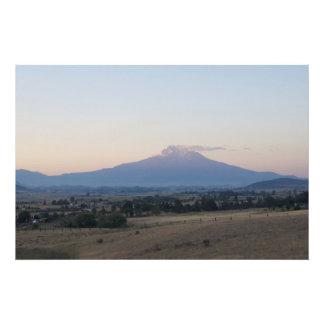 Historic Mount Shasta Volcano Art Photo