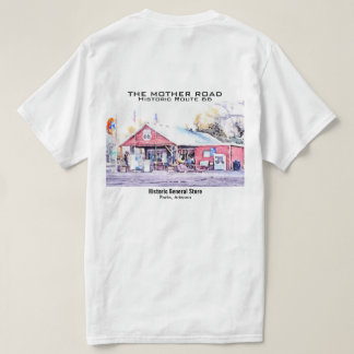 Historic Route 66 Arizona General Store Watercolor T-Shirt