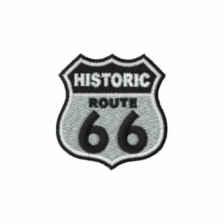 Historic Route 66 Embroidered Polo Shirt