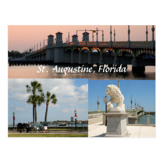 historic sites at st. augustine floirida usa postcard